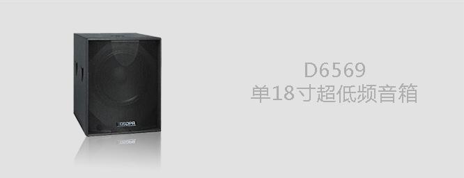 D6569  单18寸超低频音箱