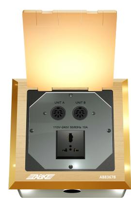 AB8367B欧宝体肓登录地面掀盖式插座