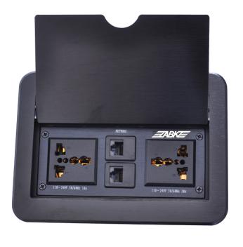 AB8690B掀盖式多媒体桌插/地插